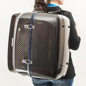 wearing accordion luxury squared carbon case