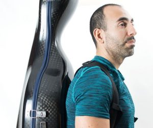 wearing a cello luxury squared carbon case