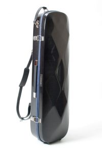 violin luxury squared carbon case side