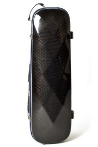 violin luxury squared carbon case front