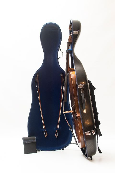 cello luxury squared carbon case opened