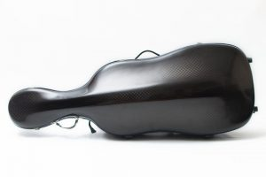 cello luxury squared carbon case on the floor