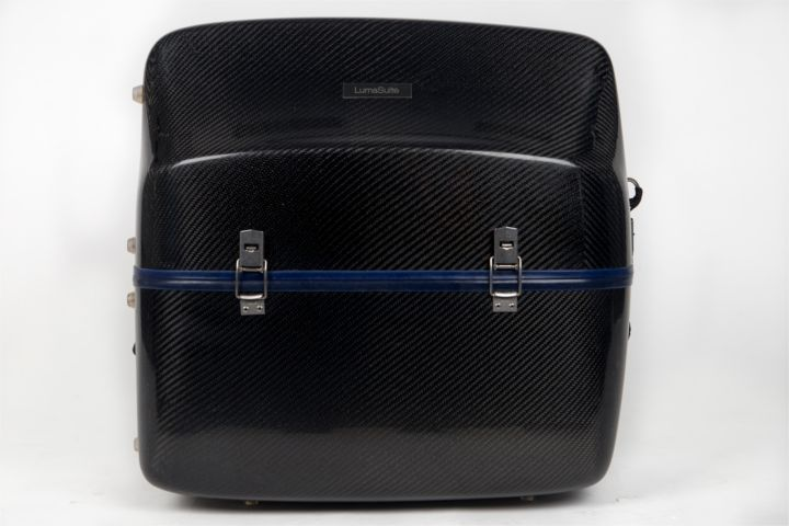 LumaSuite carbon twill standard accordion case front