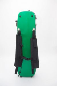 LumaSuite recycled carbon violin case green back