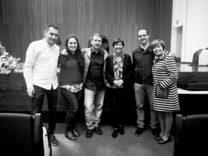 Aris del Puerto accordion contest-With the director of the conservatory, Jesús, Mar, Raúl and Maite