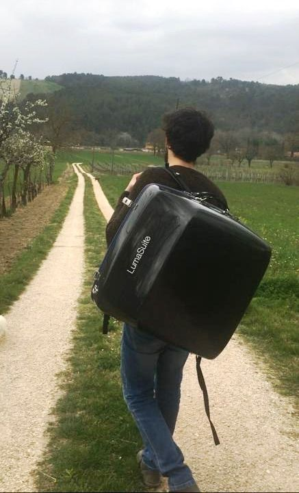 LumaSuite New Edition carbon accordion case in Italy.