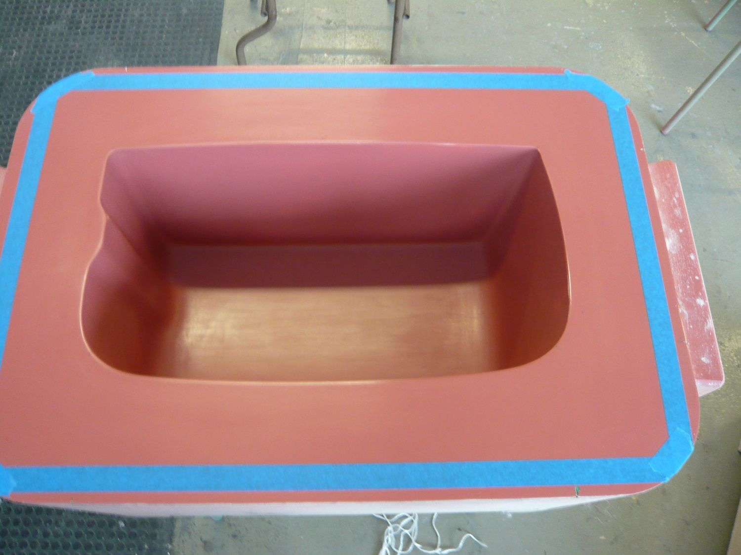 Top view of musical instrument mold