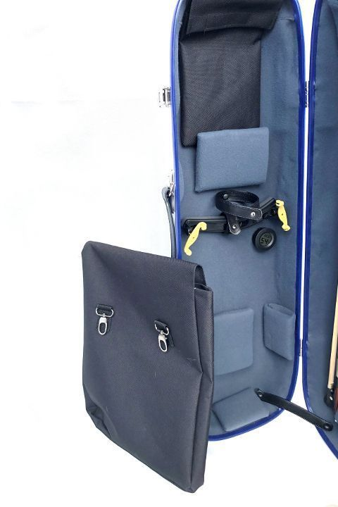 LumaSuite carbon violin case with bag for sheet music and Ipad.